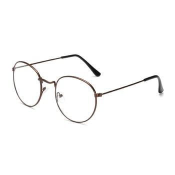 Zilead البيضاوي المعادن نظارات القراءة واضح عدسة الرجال النساء نظارات طويل النظر النظارات البصرية النظارات الطبية 0 إلى +4.0 1