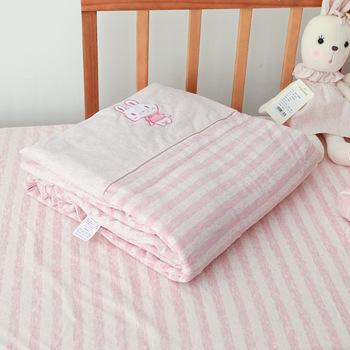 Dzieci dziecko może prać w pralce kołdra szopka kołdra klimatyzacja kołdra pojedyncza drzemka cienka kołdra pościel zmywalna pościel artykuł tanie i dobre opinie 2-3Y 4-6Y 7-9Y 10-12Y 13-14Y 14Y cotton terylene 120*150cm Pink rabbit green elephant Kindergarten nap small quilt Crib quilt
