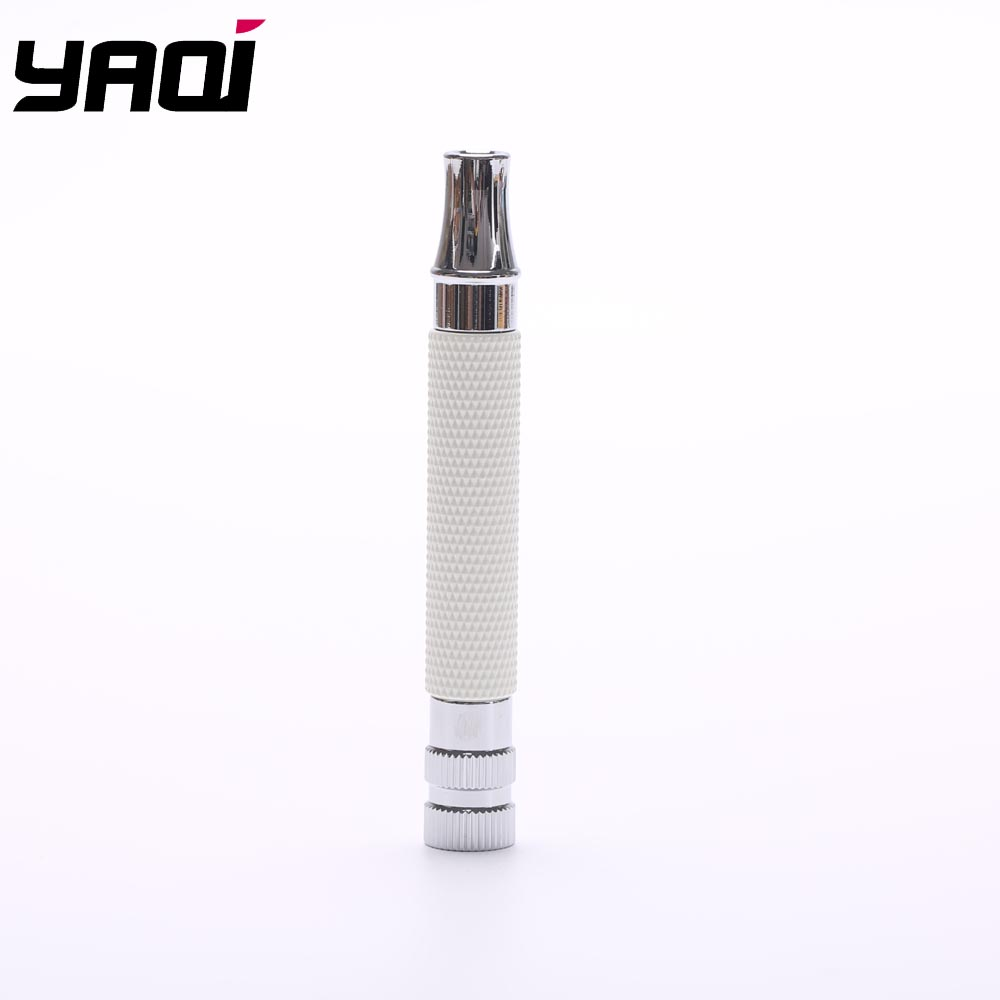 Yaqi White And Chrome Color Brass Safety Razor Handle