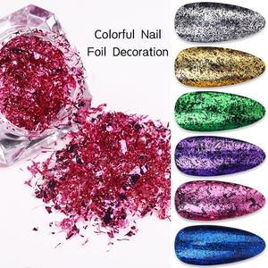 1 Box Nail Glitter Colorful Nail Strip Metal Wire Line Matt Mirror Flakies UV Gel Nail Art 3D Decoration