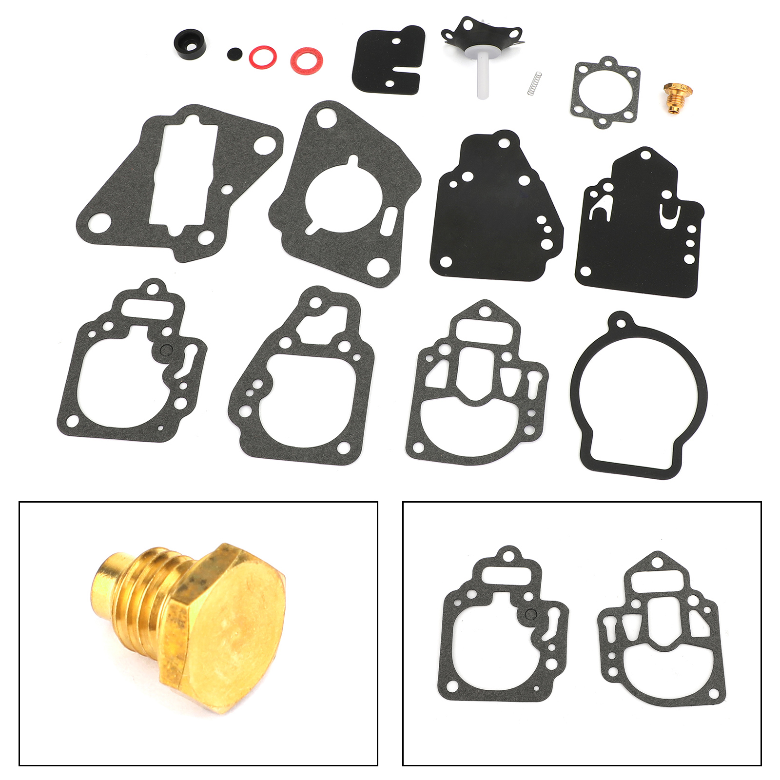 Areyourshop For Mercury Mariner Outboard 6-25hp 10 Hp 15 Hp 1395-97611 Carburetor Repair Gasket Kit