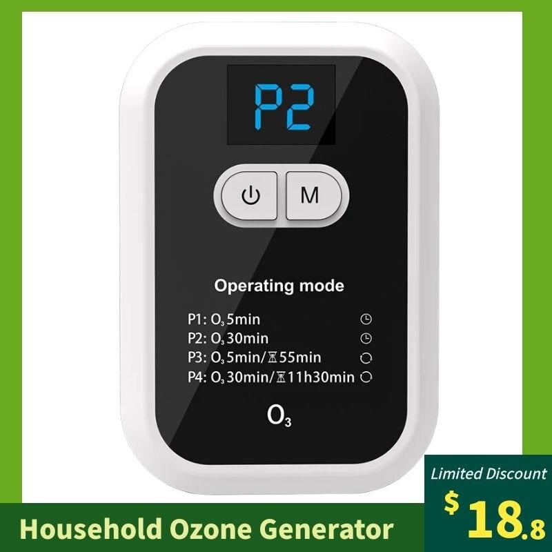 Ozone Generator Household Air Purifier O3 Ionizer Formaldehyde Odor Removal Deodorization Sterilizer Oxygenation Device fo Home