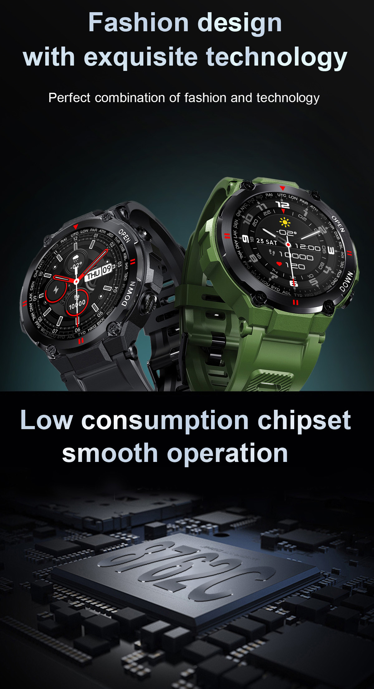 ecg marca moda feminina smartwatch suporta telefone