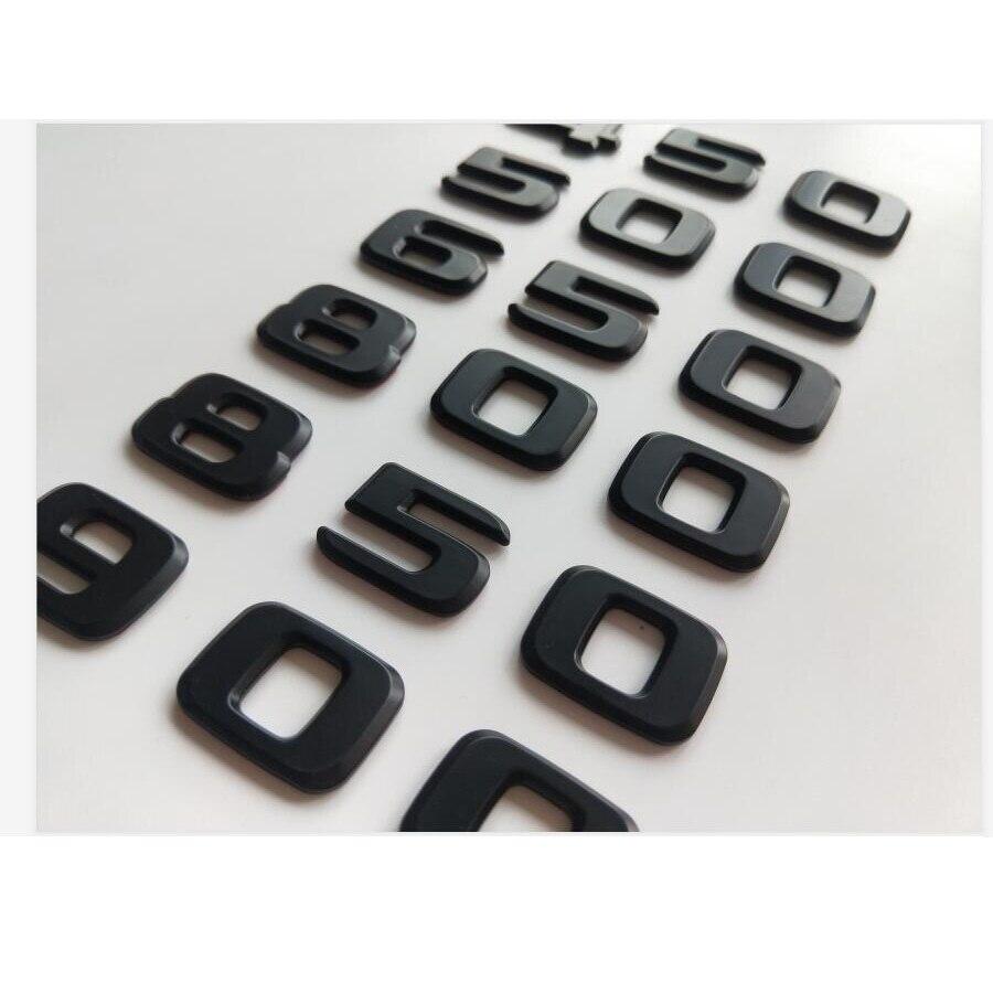 Матовые черные цифры эмблемы b20 b25 b35 450 500 550 580 600