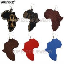 Somesoor ювелирные изделия африканские карты формы лазерная