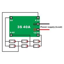 40A литий-ионная литиевая батарея 18650 зарядное устройство PCB плата защиты BMS с балансом для бурового мотора Lipo сотовый модуль