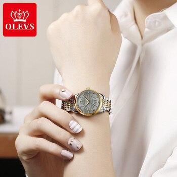 OLEVS Women Watches Mechanical Watch Luxury Bracelet Wrist Wristwatch Elegant Ladies Automatic Clock Watch Relogio Feminino 6630 2