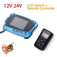 12V 24V Parkplatz Heizung LCD Display Thermostat Monitor Schalter + Fernbedienung Für 5kw/8kw Auto Heizung parkplatz Diesel Heizung
