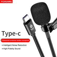 YC LM10 Type C Lavalier Condenser Microphone Phone Audio Video Recording for Tablet Huawei Sumsang Andriod