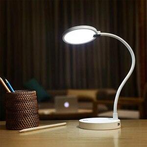 Image 5 - מקורי Youpin COOWOO LED שולחן מנורת חכם שולחן מנורת עין הגנה אור מתכוונן 4000mAh כוח 2USB נייד ספק כוח