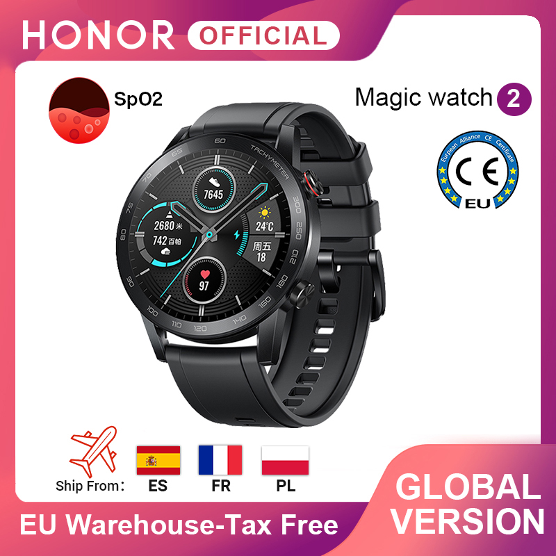 In Stock Global Version Honor Magic Watch 2 Smart Watch Bluetooth 5.1 Smartwatch Blood Oxygen 14 Days Waterproof MagicWatch 2-0