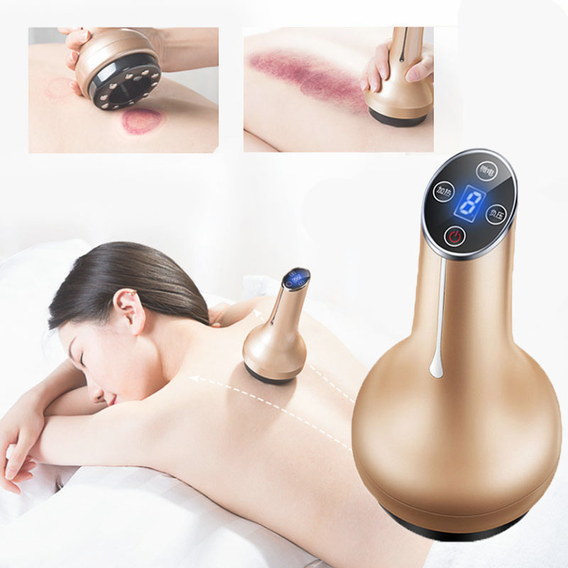 Electric anti weight Guasha Body Relax Heating Vacuum Cupping Suction device back neck  Health Care Massager
