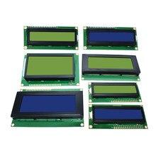 Lcd1602 lcd 1602 2004 12864 módulo azul tela verde 16x2 20x4 personagem módulo de exibição lcd hd44780 controlador azul luz preta