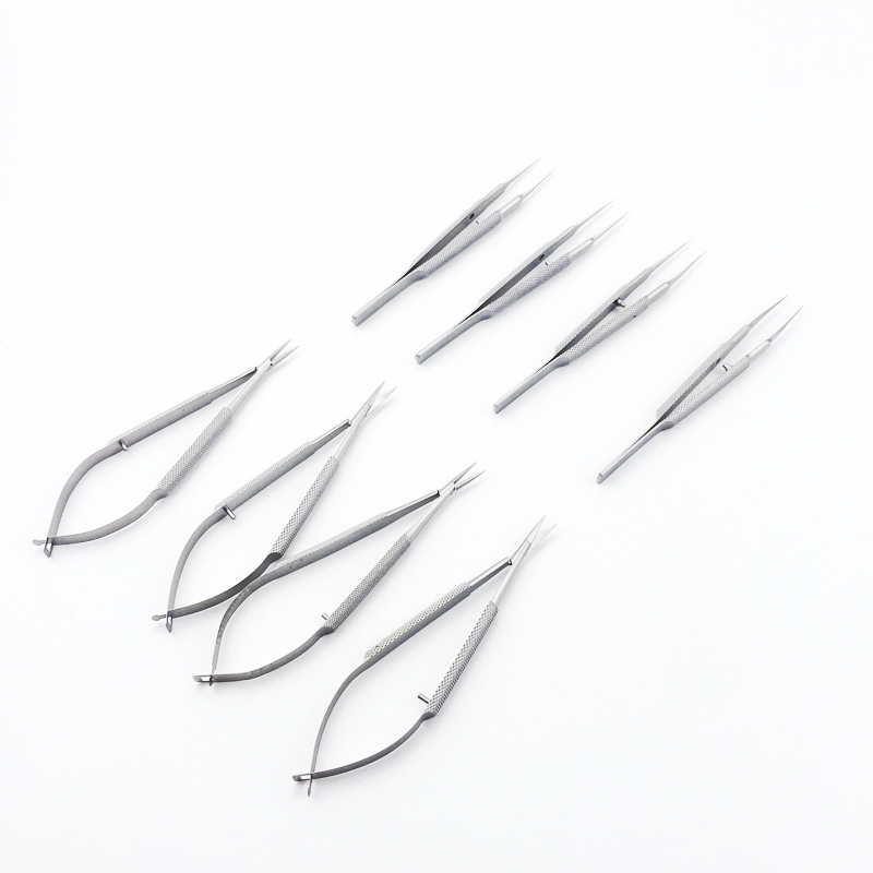 10.5CM Ophthalmic Micro Tweezer Forceps 12.5cm Ophthalmic Needle Holder Ophthalmic Scissors Microsurgical Ophthalmic Instruments