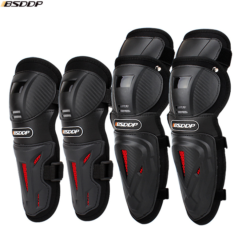4pc/s Motorcycle Knee & Elbow Protective Pads Motocross Skating Knee Protectors Riding Protective Gears Pads Protection