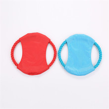 Dog Flying Disk 19CM High Quality Woven Round Cotton Rope Pet Toys Puppy Chewing Toy Training Discs