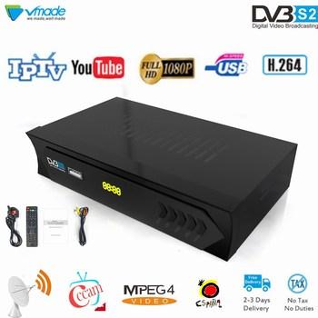 Vmade Mini TV Box DVB-S2 Fully HD 1080P H.264 DVB-S Digital Satellite Receiver Support Cccam IPTV Youtube Standard Set-Top Box original satlink ws 6936 dvb s digital satellite dvb s