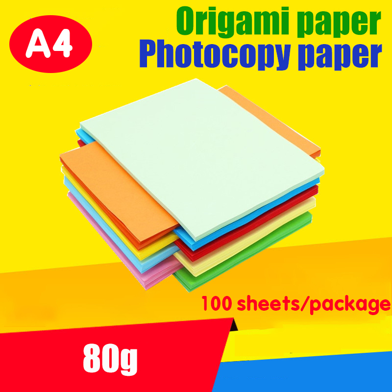 A4 Paper Printer Tracking Copy Paper 12 Color 100pcs / Package A4 Printing Paper 80g Children Manual DIY Card Scrapbook Drop