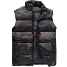 Camouflage Vest Mannen Vest Mens Winter Mouwloze Jas Man Atumn Windscherm Casual Vesten Slim Fit Merk Kleding XS 6XL 9997