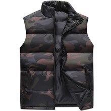 Camuflagem colete masculino colete de inverno dos homens sem mangas jaqueta homem atumn windbreak coletes casuais fino ajuste roupas marca XS 6XL 9997