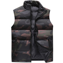 Chaleco de Caballero de camuflaje para hombre, chaqueta sin mangas de invierno para hombre, chaleco informal cortavientos, ropa de marca ajustada, XS 6XL, 9997