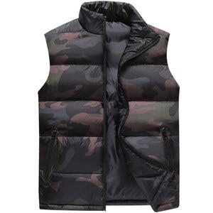 Image 1 - camouflage Vest Men Waistcoat Mens Winter Sleeveless Jacket Man Atumn Windbreak Casual Vests Slim Fit Brand Clothing XS 6XL 9997