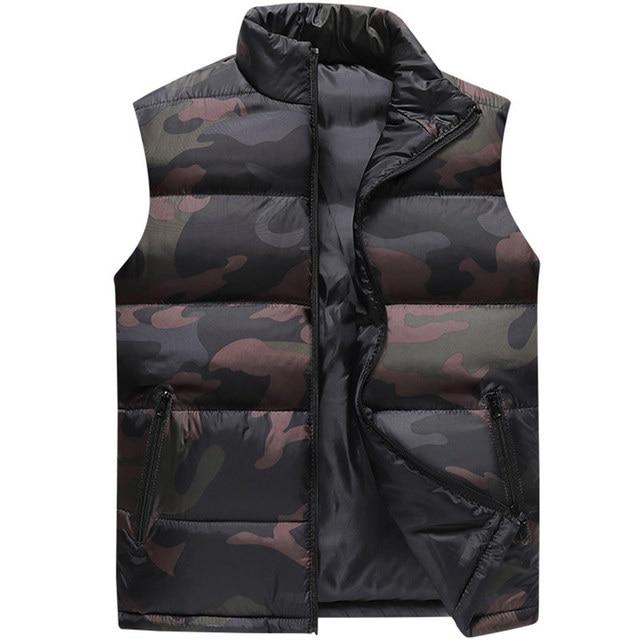 camouflage Vest Men Waistcoat Mens Winter Sleeveless Jacket Man Atumn Windbreak Casual Vests Slim Fit Brand Clothing XS 6XL 9997