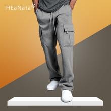 Pantalones de carga multibolsillos Hombres 2020 Nueva moda