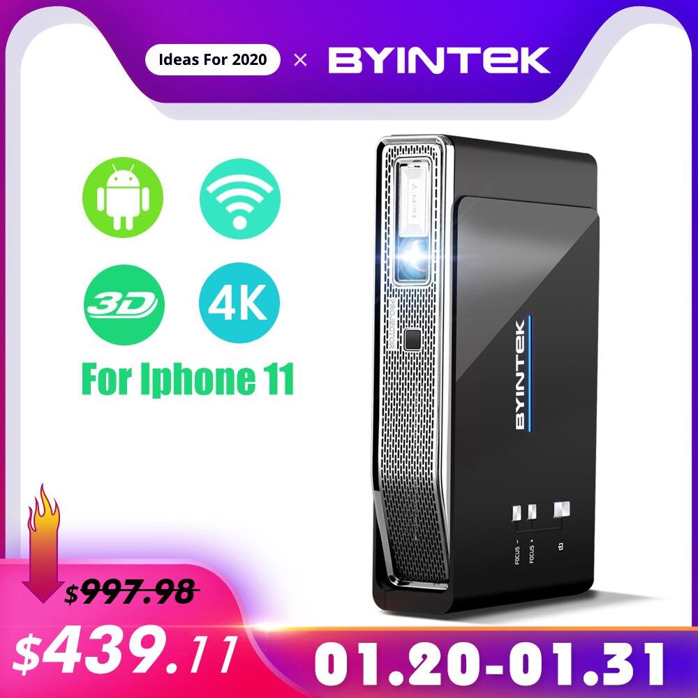 BYINTEK UFO R15 300 pouces intelligent Android WIFI vidéo LED Portable Mini DLP 3D projecteur pour Iphone 11 Full HD 1080P Home cinéma 4K