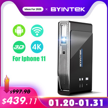 BYINTEK UFO R15 300inch Smart Android WIFI Video LED Portable Mini DLP 3D Projector