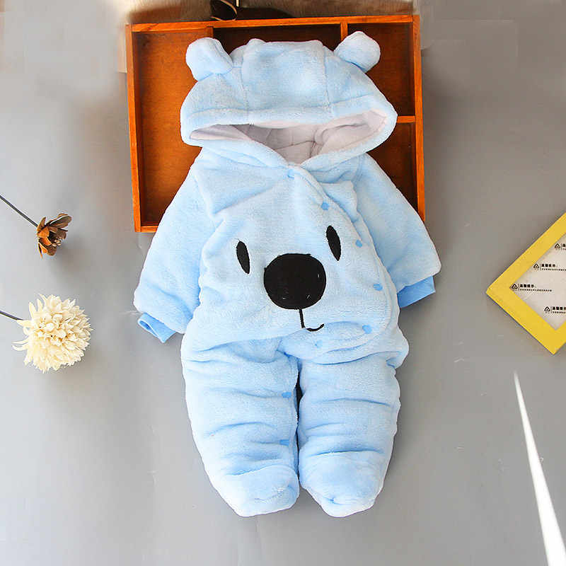 Baby overall cartoon wenig bär niedlich romper krabbeln kleidung neugeborene kleidung baby jungen dicke warme overall baby mädchen overall