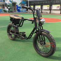 Crucero de playa eléctrico bicicleta doble Springers tenedor de la batería de litio E bicicletas hecho Bafang Motor de batería de 48V 500W bicicleta Retro E bicicleta