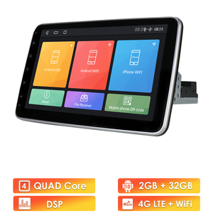 Image 1 - Universal 2 Din Car Multimedia Player 10inch Touch Screen Autoradio Stereo Video GPS WiFi Auto Radio Android Video Player