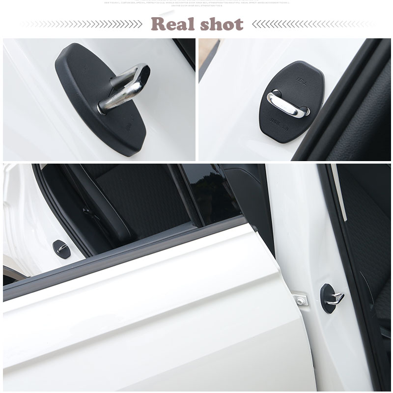 Car Styling car door lock cover Auto Emblems Case For Toyota Prado FJ 150 120 rust proof Stickers Accessories in Interior Mouldings from Automobiles Motorcycles