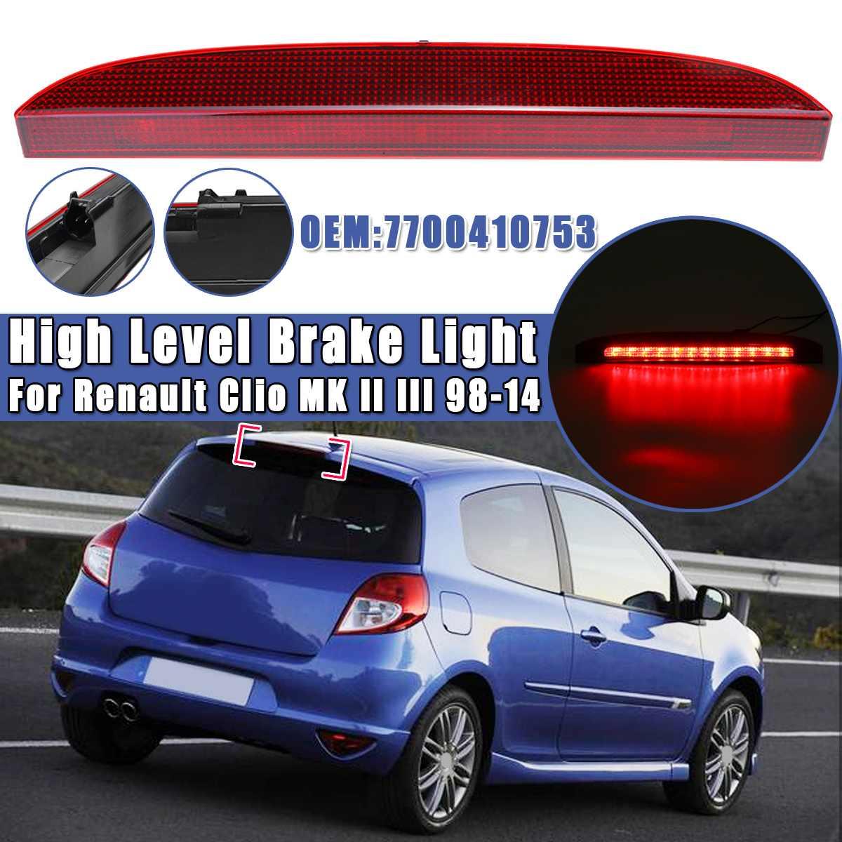 Luz de freno 3rd para Renault Clio MK II III 1998 1999 2000 2001 02-2014, luz de freno trasera de alto nivel 7700410753, 1 Uds., luz LED de freno para coche