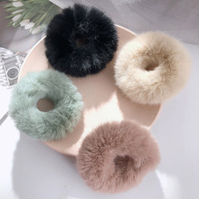 Hair Tiara Rubber-Band Hair-Accessories Women Elastic Solid-Color New Adult Winter Soft