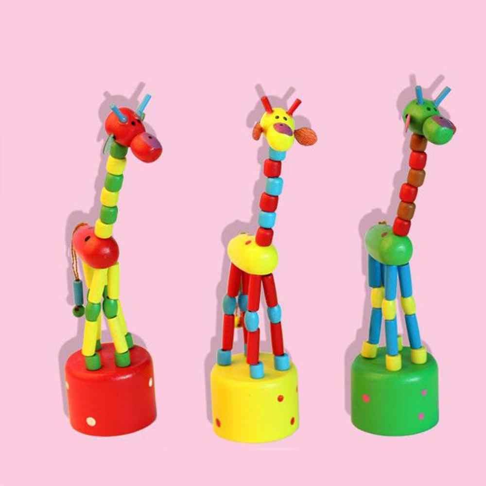 ילדים מודיעין צעצוע ריקוד Stand צבעוני נדנדה ג 'ירפה עץ צעצועי אבר juguetes דה מדרה עבור Childern Dropshipping & jw