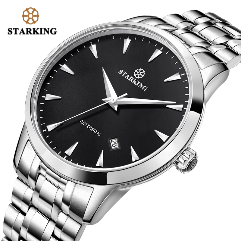 <font><b>STARKING</b></font> Mechanical Watch Men Janpan 8215 Movt Stainless Steel Wristwatch <font><b>Sapphire</b></font> <font><b>Automatic</b></font> Selfwind Men Watch Relogio Masculio image