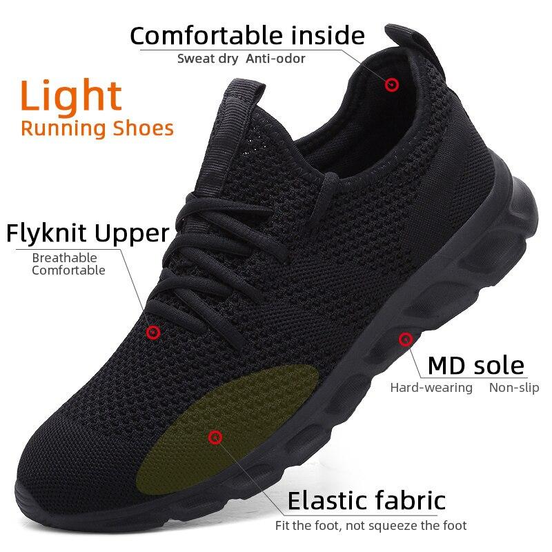 Flyknit Men Shoes Light Sneakers Men Breathable Jogging Shoes for Men Rubber Tenis Masculino Adulto Plus Flyknit Men Shoes Light Sneakers Men Breathable Jogging Shoes for Men Rubber Tenis Masculino Adulto Plus 35 46 48