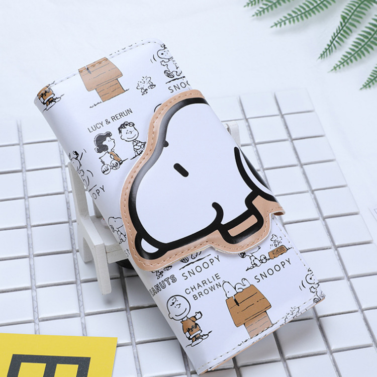 Foreign trade cartoon wallet Snoopy BOY'S and GIRL'S long wallet cartoon cute cartoon wallet