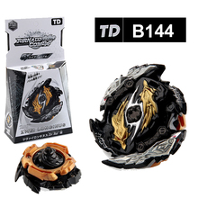 Toy Beyblades Burst Alloy Assemble Black and Gold  Gyroscope Toys for Children with Two-way Ruler Launcher Gift for Kids burst generation blast gyroscope alloy assembled combat gyro toy with ruler launcher