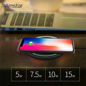 Image 2 - Amstar 15W chargeur sans fil Qi Certification rapide chargeur sans fil pour iPhone 11 Pro XS X XR Samsung S10 S9 Xiaomi 9 Huawei