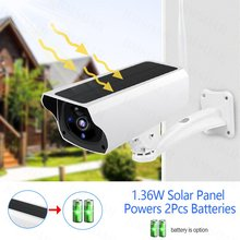 Y4P Outdoor Solar Security Camera 1080P Wireless WiFi Camera Solar Panel Rechargeable Battery PIR Motion Alarm