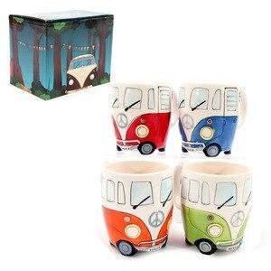 Image 5 - 英国手塗装セラミックカップクリエイティブ漫画バスカップ人格レトロ車マグ朝食ミルクコーヒー子供のギフトカップ