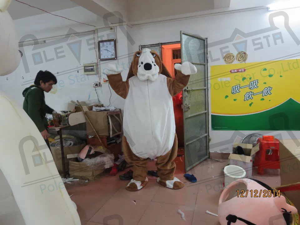 quality bulldog mascot  costumes cartoon huge puppy mascot design dog