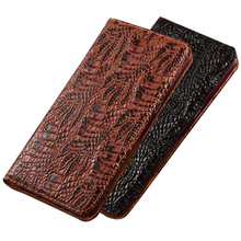 Crocodile claw genuine leather phone holster card holder for Apple iphone 7 Plus iphone 7 iphone 6 Plus iphone 6 magnetic case cheap NEW CEED Flip Case Magnetic Flip case Animal unicorn Kickstand Dirt-resistant With Card Pocket Anti-knock Adsorption First layer of cow leather