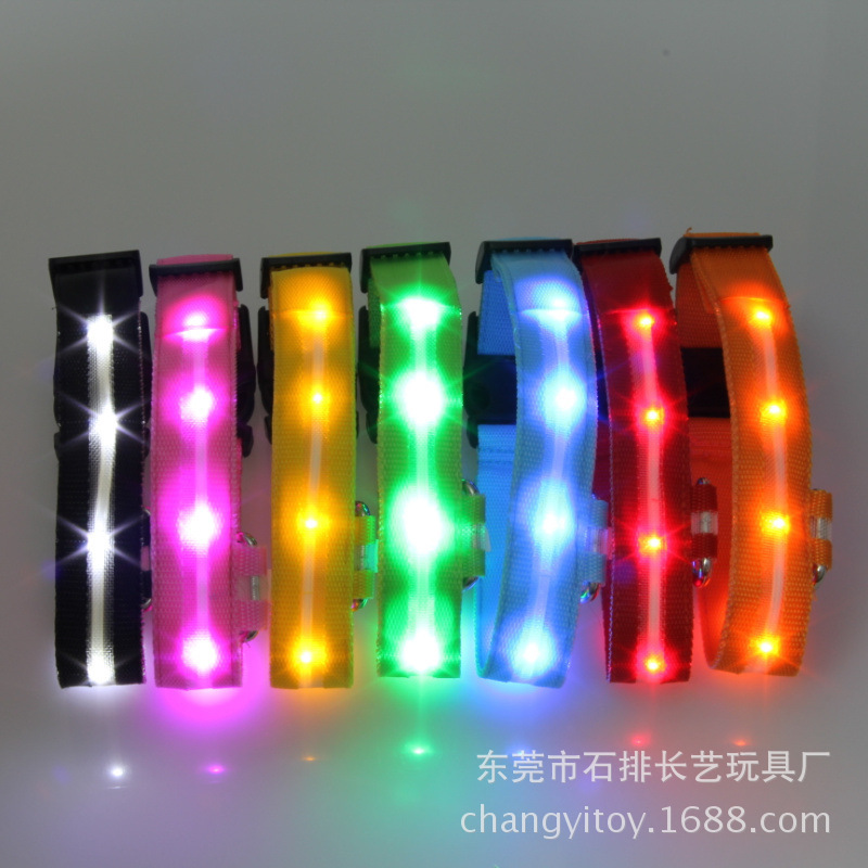 Hot Sales LED Strip Dog Collar Hand Holding Rope Shiny Dog Collar Pet Collar Dog Supplies