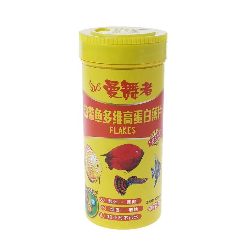 Fish Flakes For Tropical Fish Marine Ornamental Aquarium Fish Foods Feeing 110g #0709# Drop Shipping