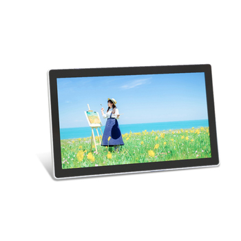 Indoor 18.5 inch vertical video graphics split screen display digital signage advertising media player Android wifi touch screen
