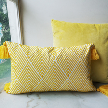 30x50cm Cushion Cover Yellow Arrow Geometric Embroidery Pillow Case with For Sofa Bed Simple Home Decorative Hassles Sofa Bed